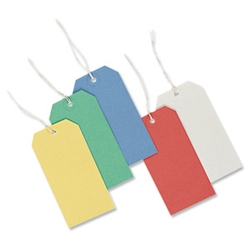 Merit Strung Tags Bulk Boxes White [Pack 1000] product image